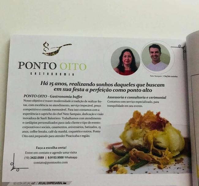 MATÉRIA DA PONTO OITO BUFFET NA REVISTA ATUAL