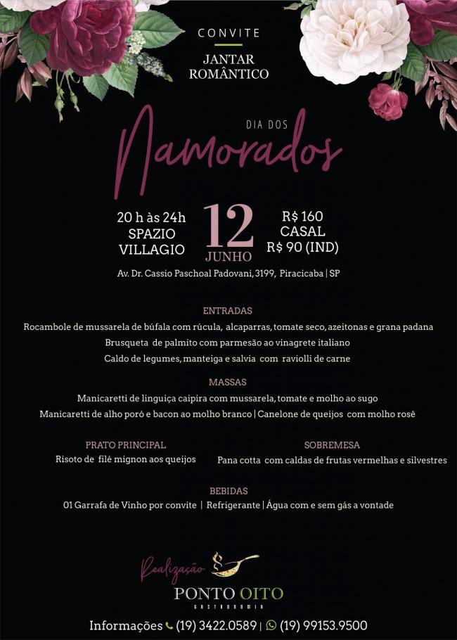 ESTÁ CHEGANDO : JANTAR ROMÂNTICO DIA DOS NAMORADOS 12.06.19